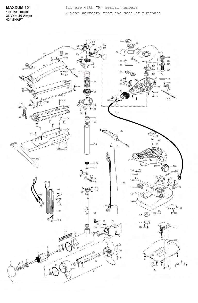 Minn Kota Max 101 (42 Inch) Parts - 2010