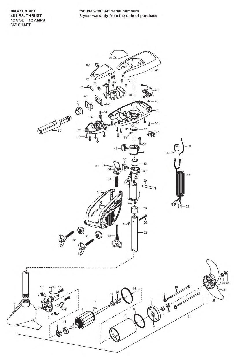 Minn Kota Maxxum 46t Parts - 2008