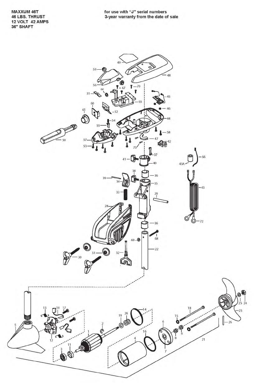 Minn Kota Maxxum 46t Parts - 2009