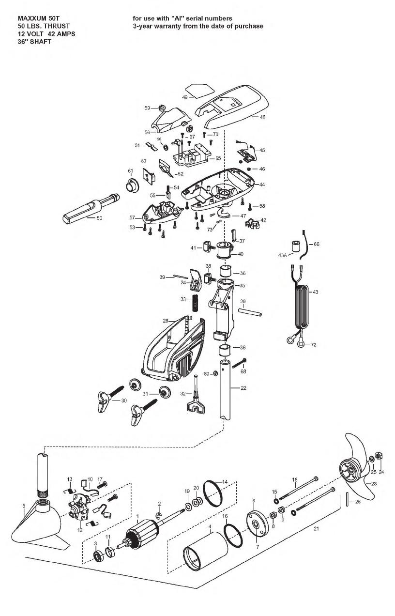 Minn Kota Maxxum 50t Parts - 2008