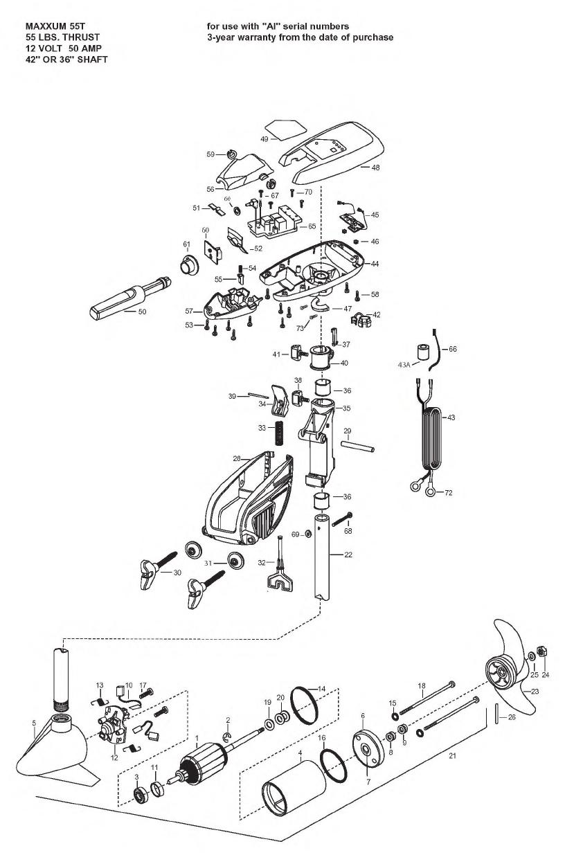 Minn Kota Maxxum 55t Parts - 2008