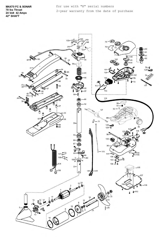 Minn Kota Max 70 (42 Inch) Parts - 2010