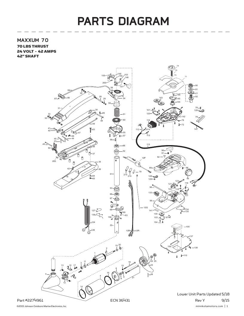 Minn Kota Maxxum 70-42 inch Parts-2018