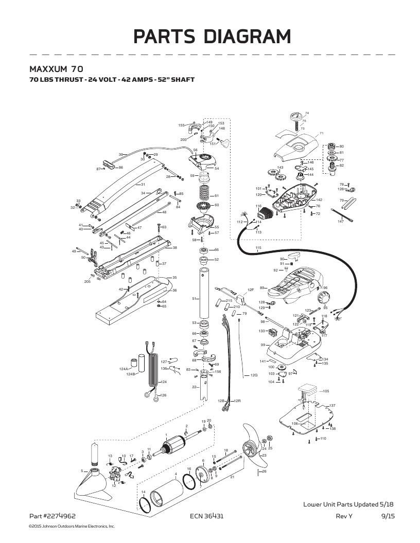 Minn Kota Maxxum 70-52 inch Parts-2018