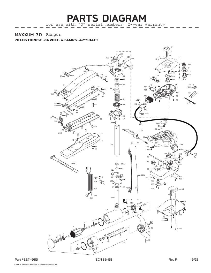 Minn Kota Maxxum 70 Ranger Parts-2016
