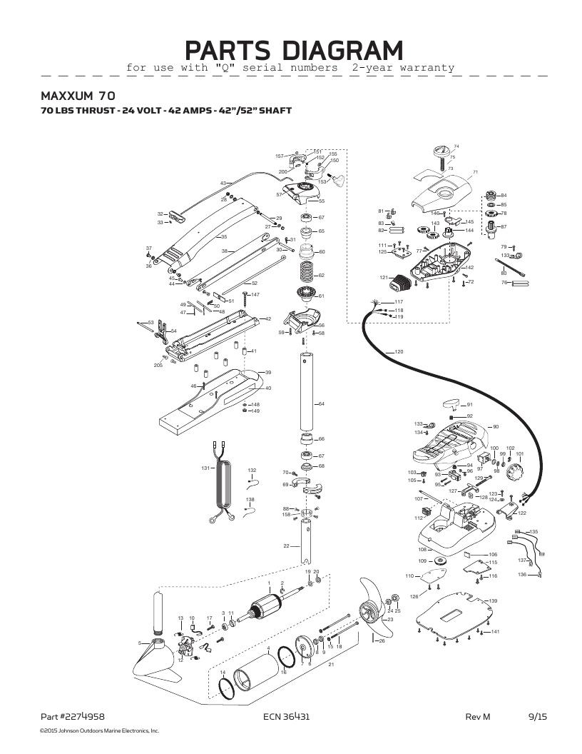Minn Kota Maxxum 70 SC Parts-2016