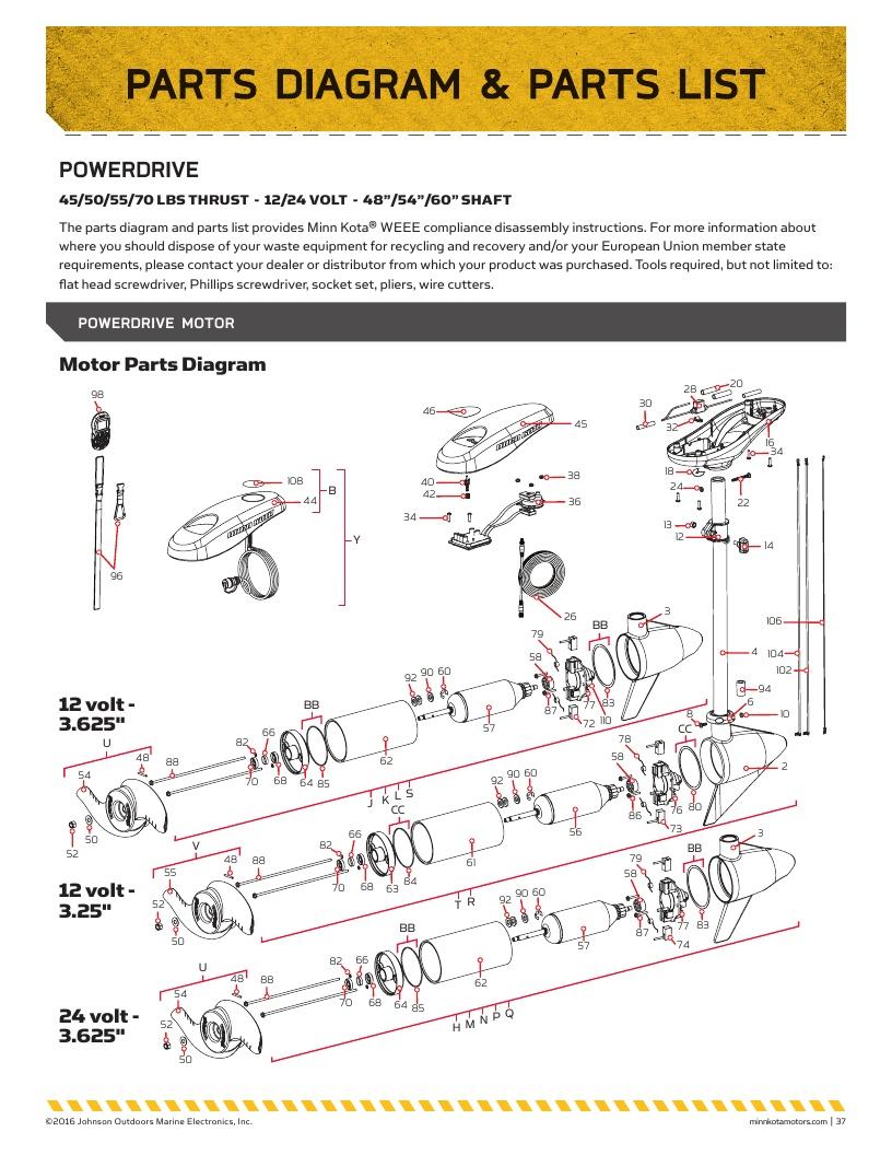 Minn Kota PowerDrive Parts-2017