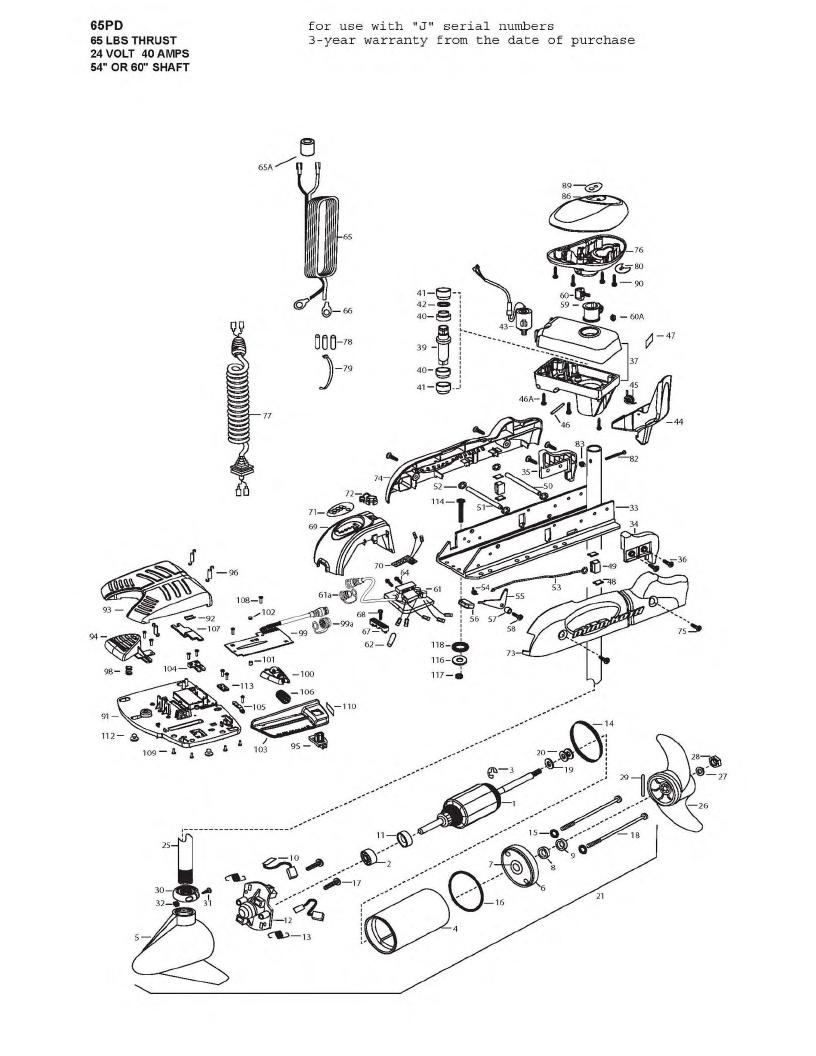Minn Kota PowerDrive V2 65 Parts - 2009