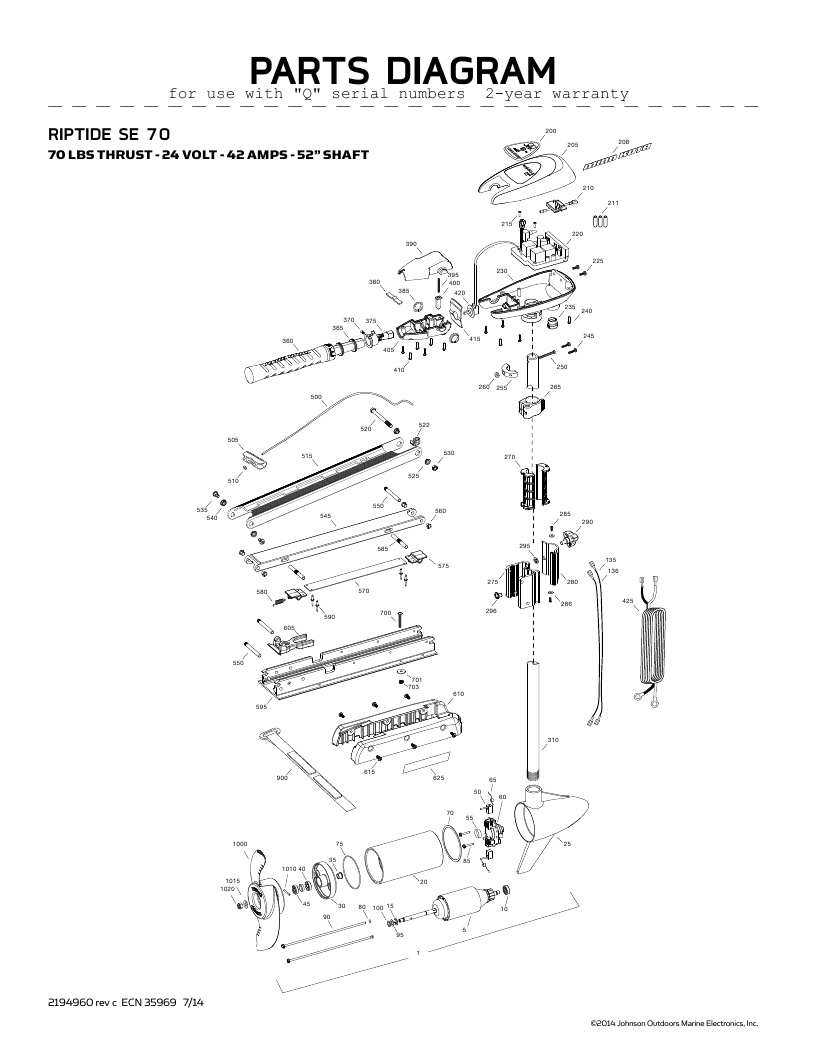 Minn Kota Edge 70 Wiring Diagram
