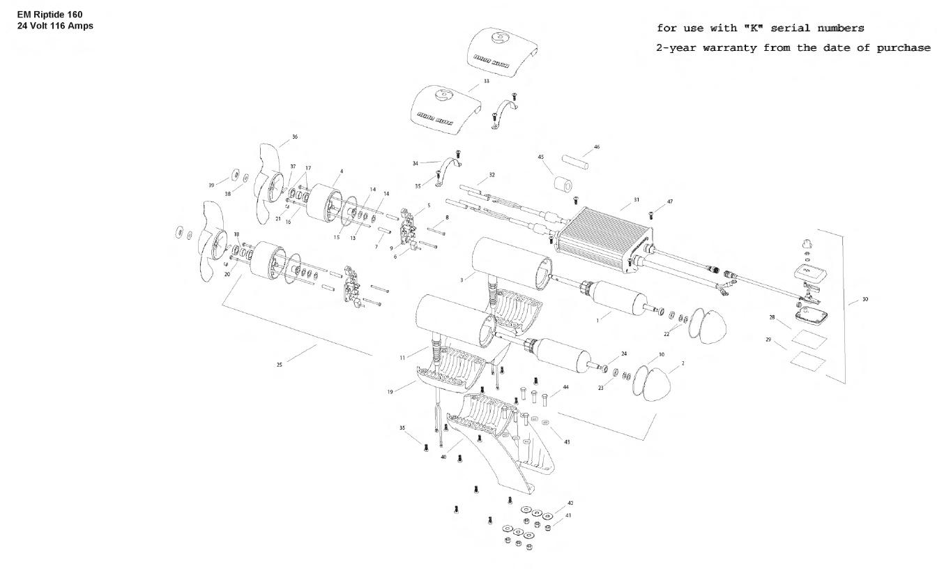 Minn Kota Engine Mount Riptide 160 Parts - 2010