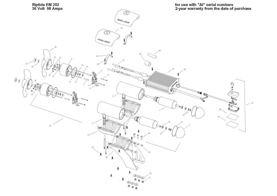 Minn Kota Engine Mount Riptide 202 Parts - 2008