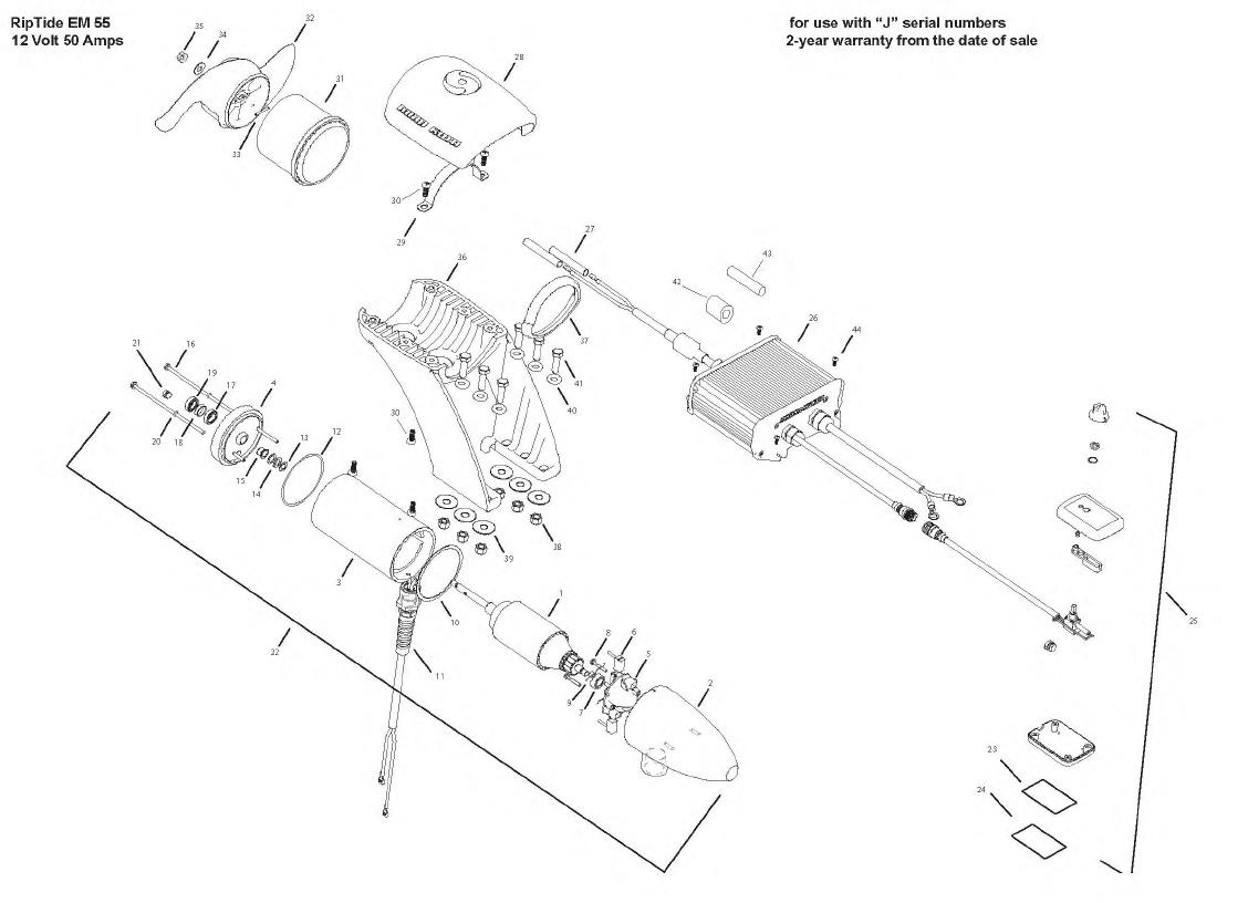 Minn Kota Engine Mount Riptide 55 Parts - 2009