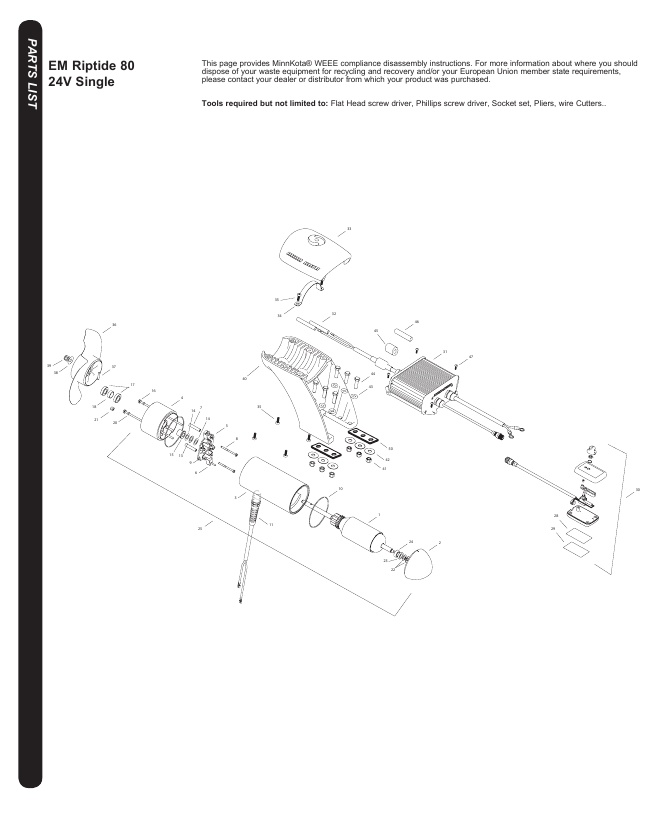 Minn Kota Riptide EM 80 Parts-2018