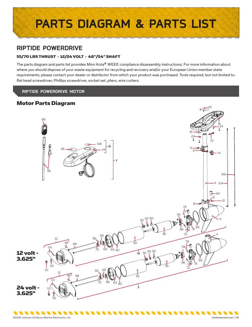 Minn Kota Riptide PowerDrive Parts-2017