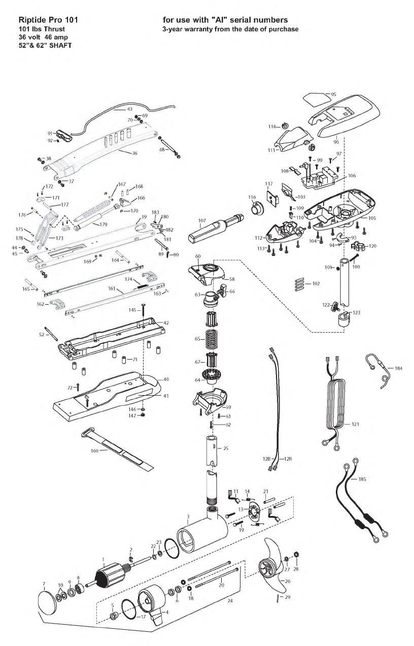 Minn Kota Riptide Pro 101 Parts - 2008