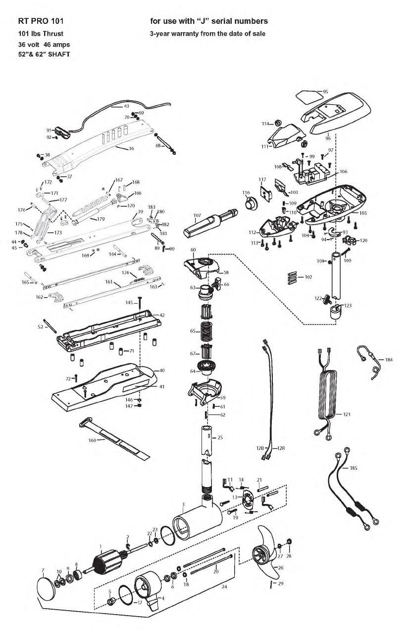 Minn Kota Riptide Pro 101 Parts - 2009