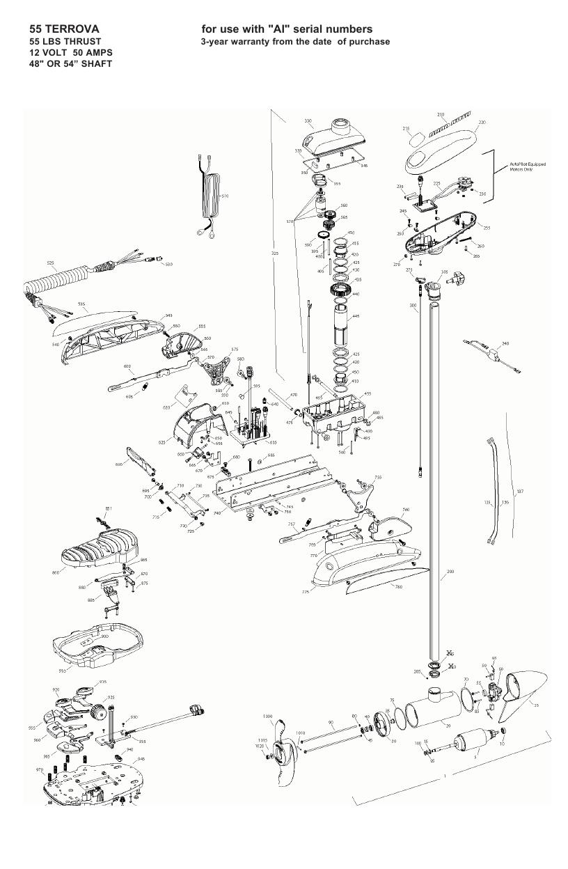Minn Kota Terrova 55 Parts - 2008
