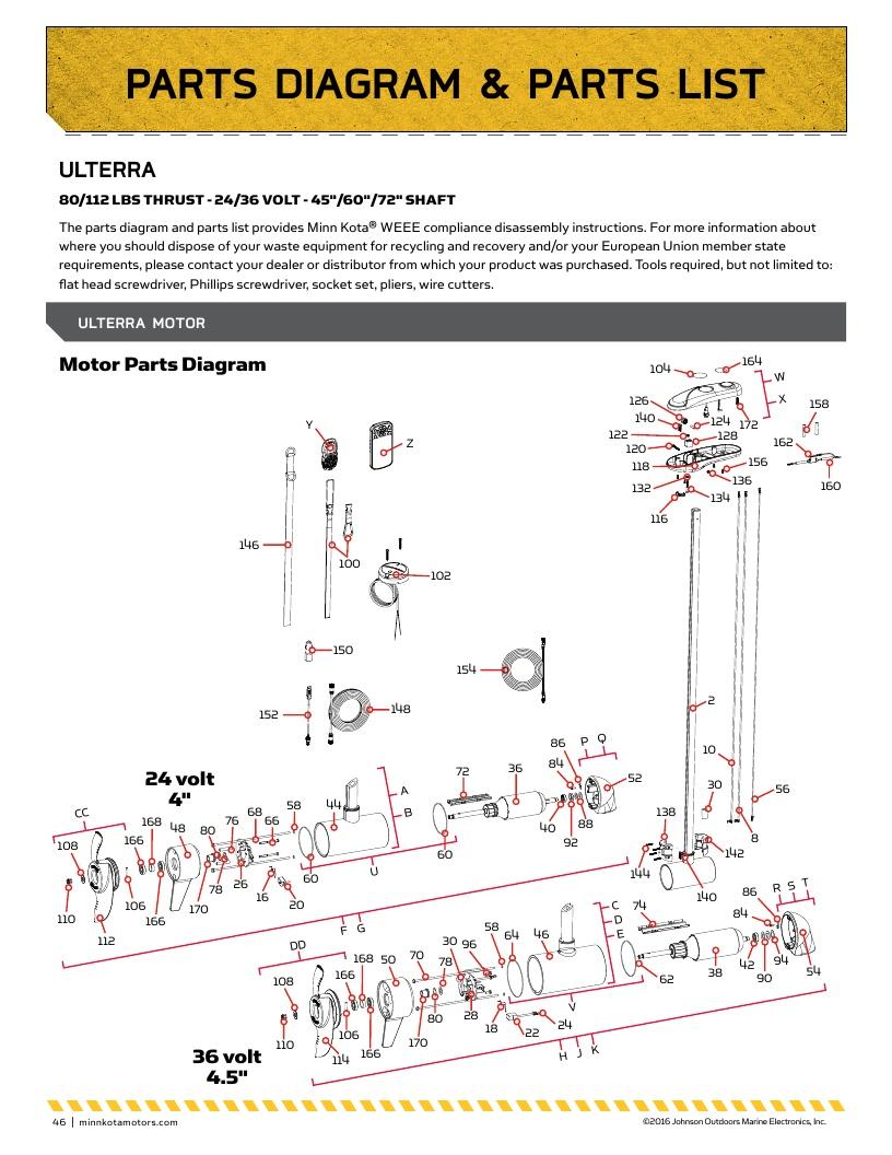 Minn Kota Ulterra Parts-2018 from FISH307.com Ulterra Minn Kota Wiring Diagram on standard horizon wiring diagram, 12 volt dc to 24 volt dc wiring diagram, floscan wiring diagram, marinco wiring diagram, seachoice wiring diagram, furuno wiring diagram, fortress wiring diagram, taylor wiring diagram, flojet wiring diagram, viking wiring diagram, johnson pump wiring diagram, fusion wiring diagram, ocean led wiring diagram, 24v starter solenoid wiring diagram, 24v trolling motor wiring diagram, northstar wiring diagram, wesbar wiring diagram, mosquito magnet wiring diagram, attwood wiring diagram, arco wiring diagram,