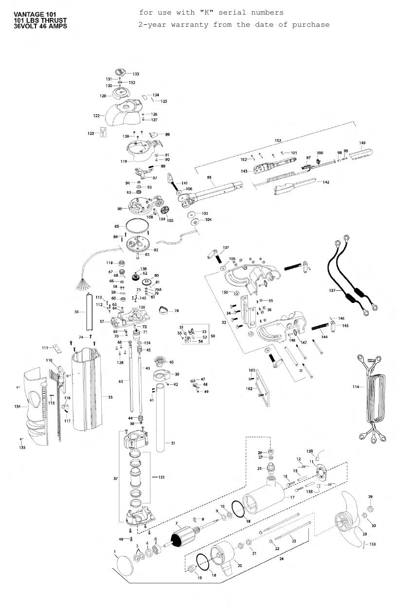 Minn Kota Vantage 101 Parts - 2010