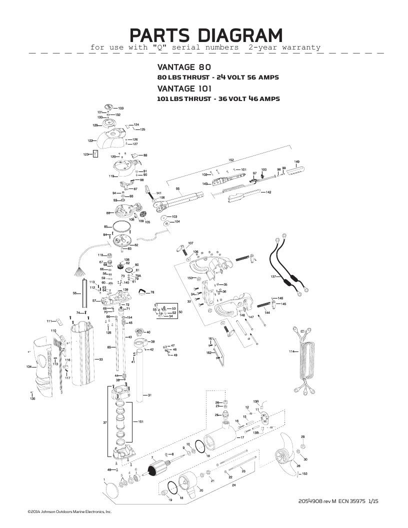 Minn Kota Vantage Parts-2016