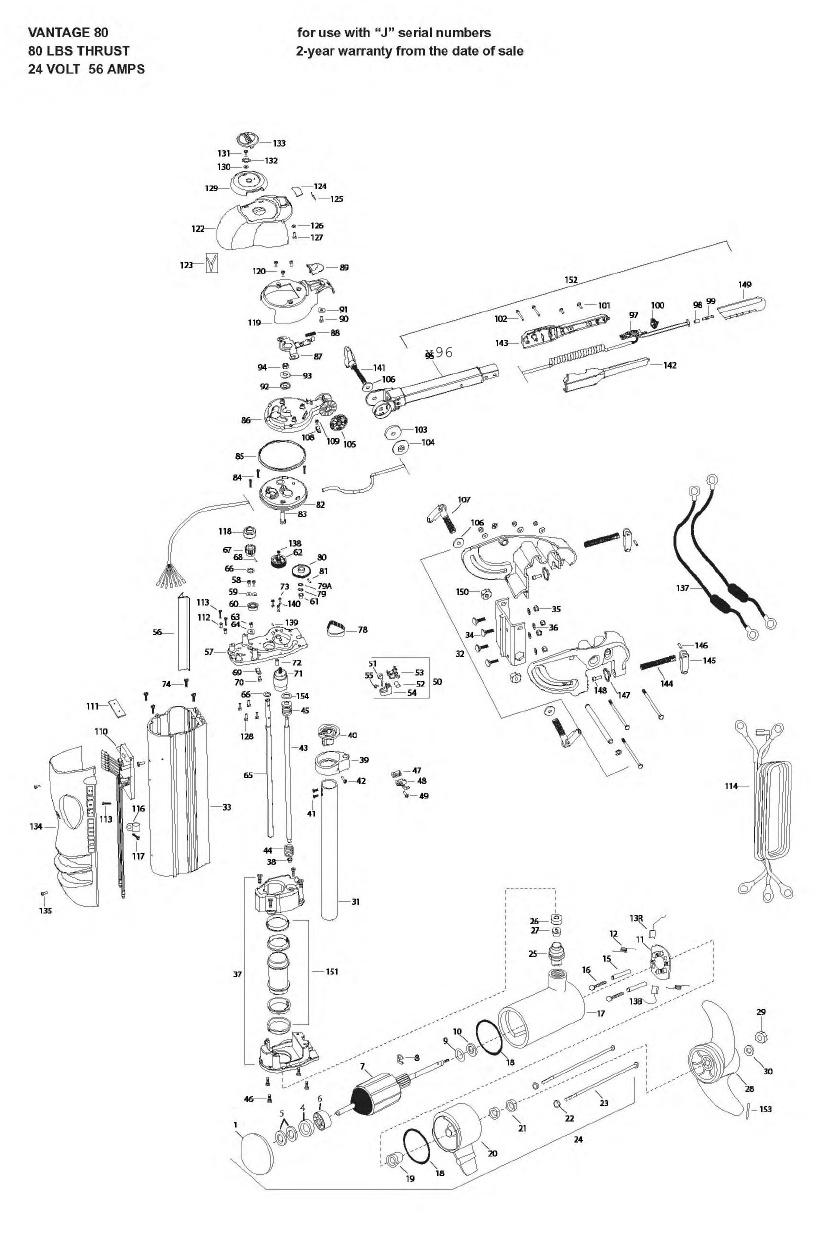 Minn Kota Vantage 80 Parts - 2009