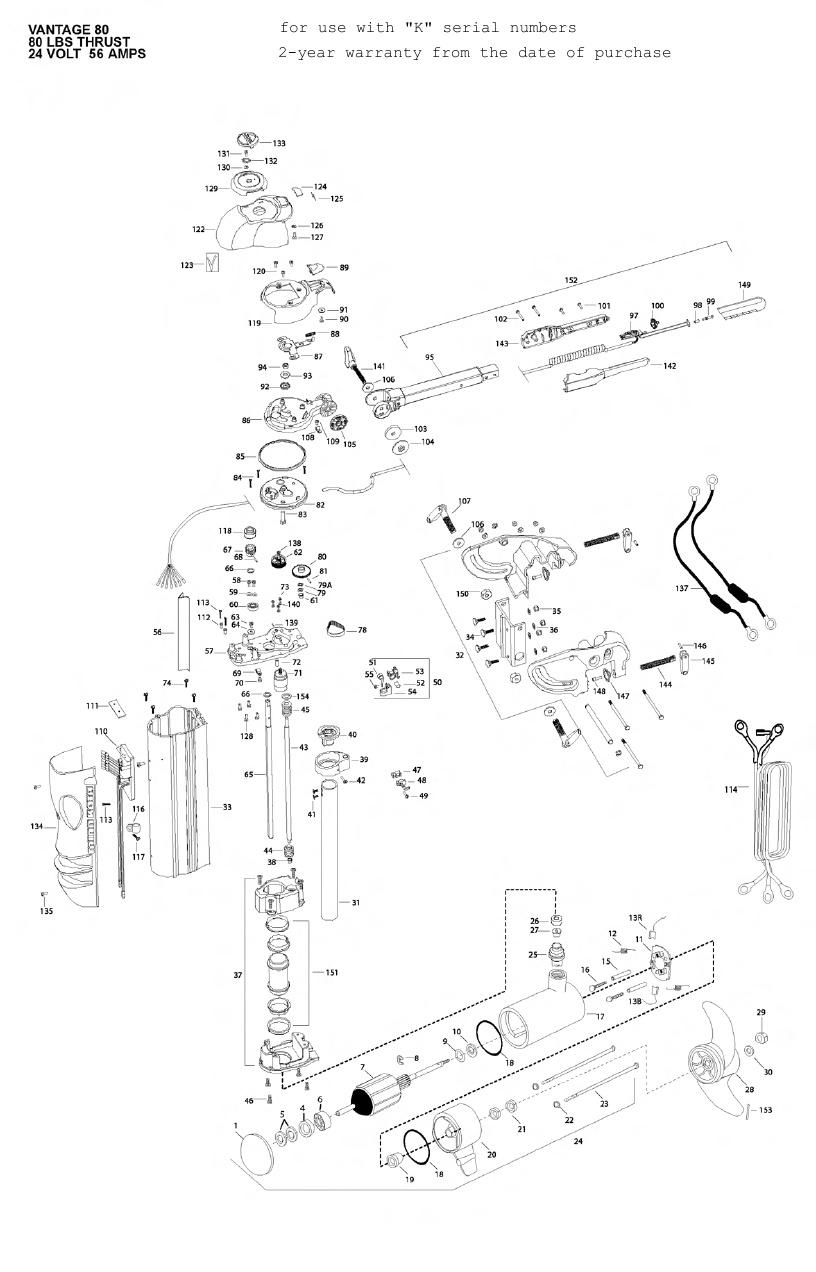 Minn Kota Vantage 80 Parts - 2010