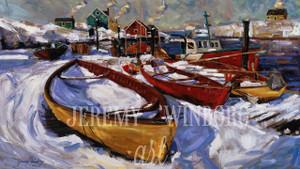 Peggy's Cove Winter Giclée Print