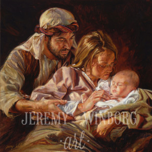 For Unto Us a Child is Born Giclée Print