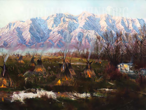 Cache Valley Encampment Giclée Print Studio Sale