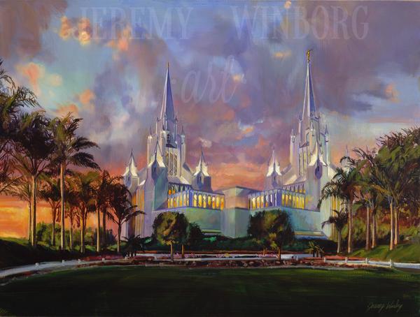 San Diego Temple Giclée Print