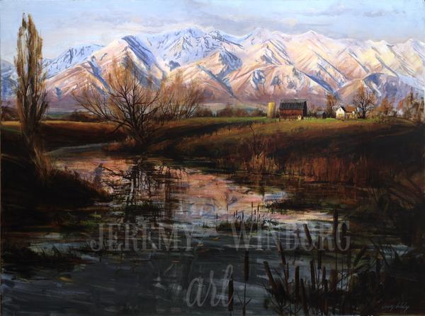 Cache Valley Homestead Giclée Print