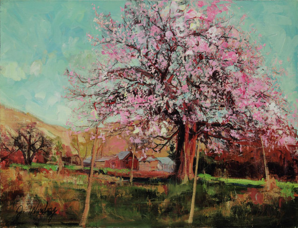 Signs of Spring Original Oil Study (SOLD)