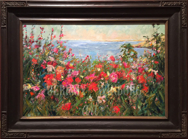 Flowers by the Sea Original (SOLD)