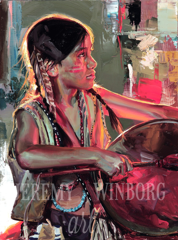 Little Drummer Boy Original Oil Study (SOLD)