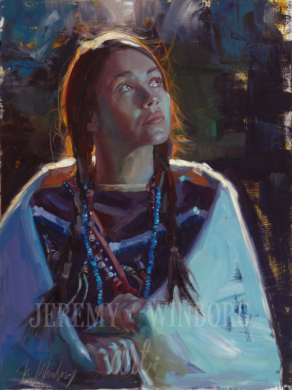 Jenny of the Teton Original Oil Study (SOLD)