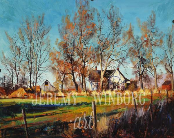 Autumn House Giclée Print