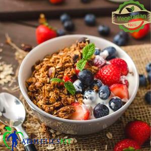 Low fat Greek yogurt with Wild Berries and Granola.