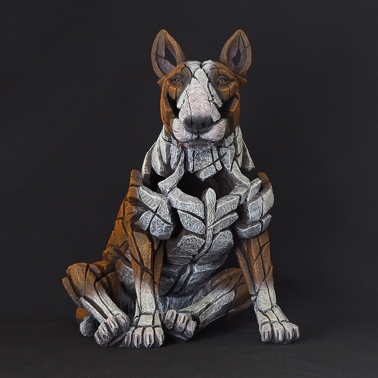 Bull terrier red edge sculpture