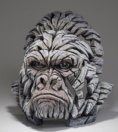 Gorilla Bust (White)- Edge Sculpture