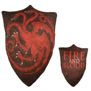 Game Of Thrones - House Sigil Throw Pillow - TARGARYEN