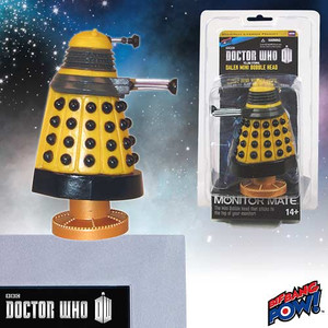 Doctor Who Yellow Eternal Dalek Monitor Mate Bobble Head