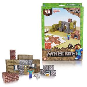 Minecraft Papercraft Shelter Set 48-Piece Pack