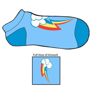 My Little Pony Rainbow Dash Cutie Mark Footies Slipper Socks