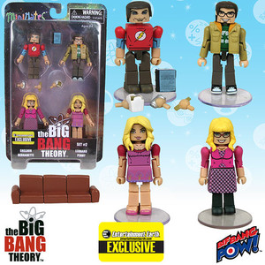 The Big Bang Theory Minimates Set 2 - Entertainment Earth Exclusive
