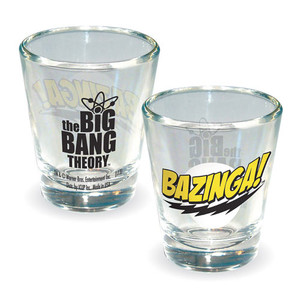 Big Bang Theory Bazinga! Shot Glass