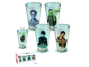 Big Bang Theory Character Pint Glass 4-pack