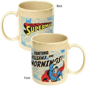 DC Comics Superman Mornings Ceramic Mug
