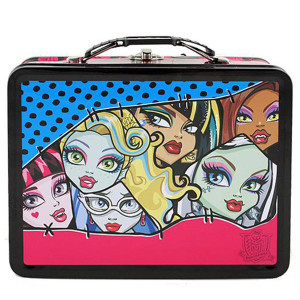 Monster High Faces Large Embossed Tin Lunch Box