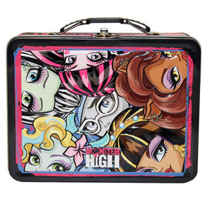 Monster High Heads Large Embossed Tin Lunch Box