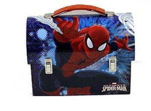 Spider-Man Web Large Workman Carry All Tin Lunch Box